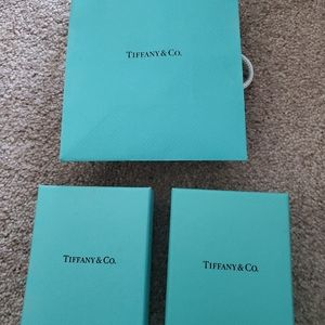 Tiffany box & bag lot